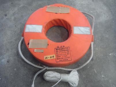 15-659 小型船舶用救命浮環 オーシャン OL-C型 ロープ付 船検備品 ソフトタイプ 中古品