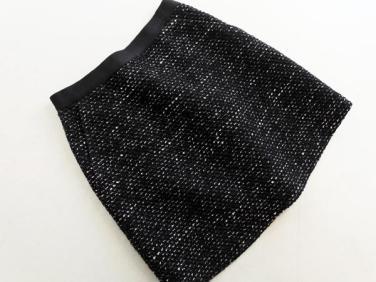 INDIVI インディヴィ ツイード ミニ スカート size36/黒 ◇■ ☆ iba2