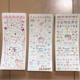 送料無料☆キキララ ウォーター ネイルシール☆☆ 3マイセット☆