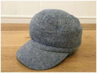 Yorkshire tweedインダストリアルデザイン◇毛100 帽子 キャップ◇サイズF