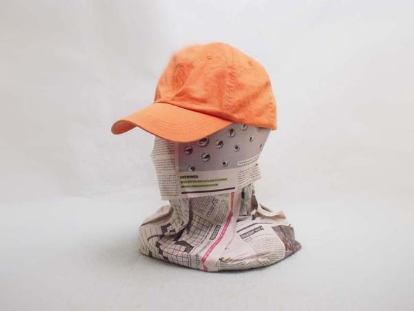 帽子小さめ●Polo by Ralph Lauren ポロ ラルフローレン 100%COTTONキャップ 帽子 オレン
