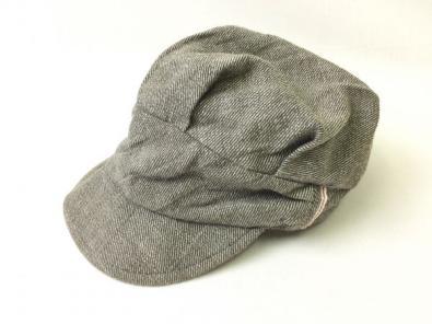 mad factory◆ナチュラル感サッカーストライプヒッコリー キャスケット 帽◆マッドファ
