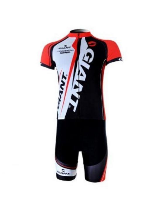 323 自転車ウェア サイクリングウェアジャージ赤上下半袖セットMサイズ(並行輸入品)