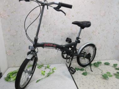 used【み426・16】折り畳み自転車 BME-01 16インチ 反射板・ベル付き 重さ14kg