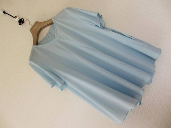 新品■kaLpos・カイロス■婦人ミセス■日本製!半袖カットソー■水色■大きいサイズ13号+