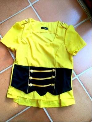 km120 MZC 鮮やかな黄色半袖カットソー 3XL 大きいサイズ