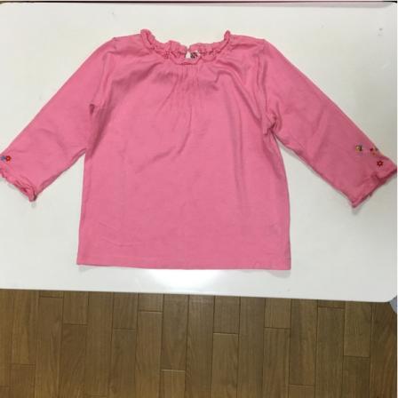 ミキハウス 長袖 ピンク 120サイズ 着丈40cm 送料164円