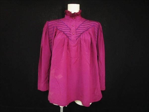 ● Christian Dior クリスチャンディオール レディース M シルクシャツ 長袖シャツ デザ