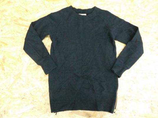 Pensee パンセ レディース 裾金ZIP 薄手 スウェットシャツ トレーナー トップス 黒 38