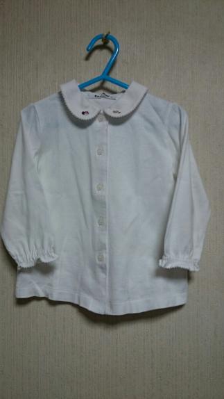 ■ファミリア■ブラウス 90 美品/長袖シャツ 刺繍 カットソー リアちゃん フォーマル
