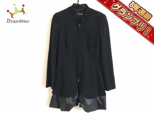 エンポリオアルマーニ EMPORIOARMANI ジャケット ブルゾン 黒 レディース ロング丈/春・