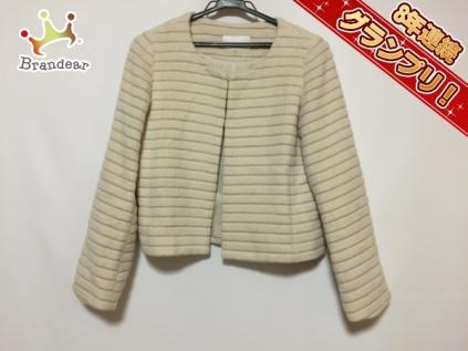 エムプルミエ M-PREMIER ジャケット アイボリー レディース 美品