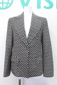 W*EMPORIO ARMANIエンポリオアルマーニ テーラードジャケット 40 黒×白