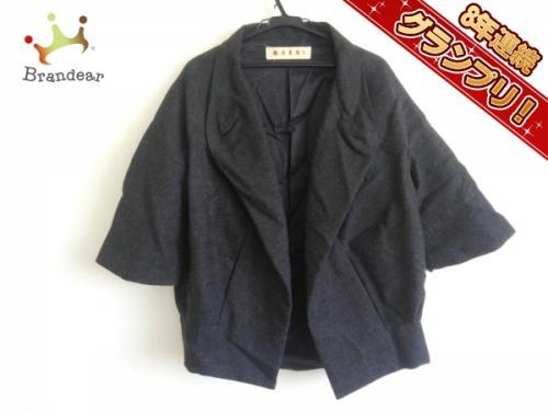 マルニ MARNI ジャケット サイズ40 M ダークグレー レディース 五部袖