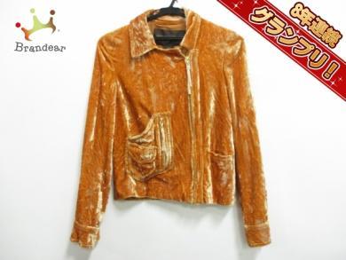 ルイヴィトン LOUIS VUITTON ジャケット ブルゾン サイズ36 S オレンジ レディース ベロ