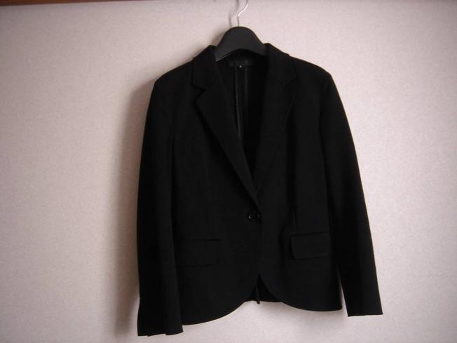 UNTITLED/アンタイトル シンプルストレッチジャケット/ジャージー素材 黒/サイズ3