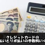 クレジットカードの分割払いとリボ払いの手数料いくら?