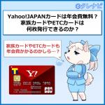 Yahoo!JAPANカード(YJカード)年会費は永年無料!家族カードやETCカードの年会費は?