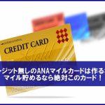 クレジット無しのANAマイルカードは作るな!マイル貯めるなら絶対このカード!