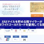 ANAマイルが一番貯まるクレジットカードってどれ?おすすめのANAカードについて