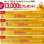 dカードGOLDの13000円分キャッシュバックを確実にGETする条件