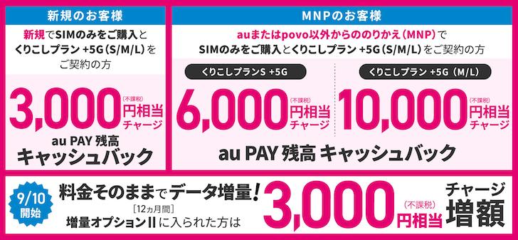 キャンペーンでau PAY残高で最大13,000円還元