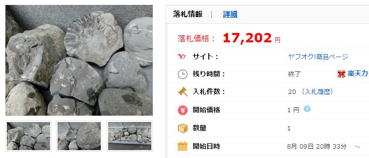 北海道の化石 アンモナイト ノジュールの価格比較|アンティーク、コレクション|ヤフオク(ヤフーオークション)落札相場  オークファン(aucfan.com)